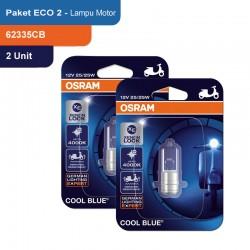Osram Lampu Depan Motor Halogen MC 62337CB 35/35 12V P15D-25-1 Cool Blue