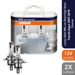 Osram Lampu Mobil H4 Silver Star 12V 60/55W - 64193SVS - dengan Harga Murah