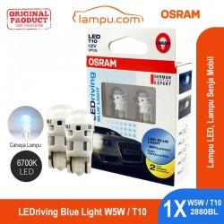 Jual Osram Lampu Senja Mobil - LEDriving T10 W5W 6700K Blue Light 2880BL - Biru - dg Harga Murah