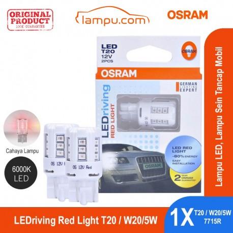 Jual Osram Lampu LED Sein Tancap Mobil T20 - W20/5W - 7715R Red Light - Merah [6000K] - dg Harga Murah