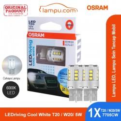 Jual Osram Lampu LED Sein Tancap Mobil T20 - W20/5W - 7705CW Cool White - [6000K] - dg Harga Murah