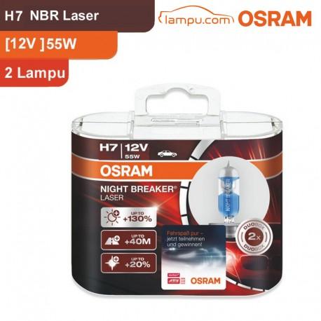 Osram Lampu Mobil H7 Night Breaker Laser 12V 55W - 64210NBL - dengan Harga Murah