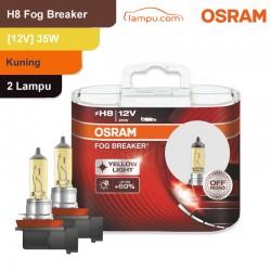 Jual Osram Lampu Kabut Mobil H8 Fog Breaker 12V 35W - 62212FBR - Kuning - dg Harga Murah
