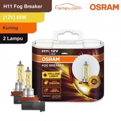 Jual Osram Lampu Kabut Mobil H11 Fog Breaker 12V 55W - 64211FBR - Kuning - dg Harga Murah