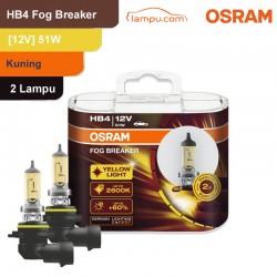 Jual Osram Lampu Kabut Mobil HB6 Fog Breaker 12V 51W - 9006FBR - Kuning - dg Harga Murah