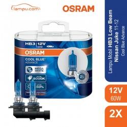 Jual Osram Lampu Mobil Nissan Juke 2011-2012 Low Beam HB3 Cool Blue Advance - 69005CBA - Biru - dg Harga Murah