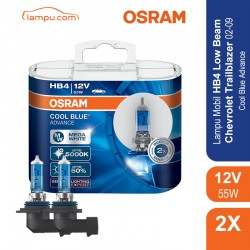 Jual Osram Lampu Mobil Chevrolet Trailblazer 2002-2009 Low Beam HB4 Cool Blue Advance - 69006CBA - Biru - dg Harga Murah