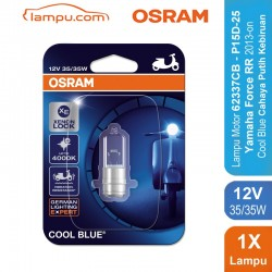 Osram Lampu Depan Motor Yamaha Force RR 2013-on - 62337CB 35/35 12V P15D-25-1 Cool Blue