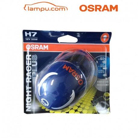 H7 Night Racer Lampu Motor Halogen Osram (12V, 55W) - Cahaya Terang tdk Cepat Redup & Mati di Jual dg Harga Murah