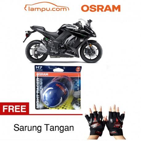 Jual Osram Lampu Motor Kawasaki Ninja Z1000 Night Racer Plus H7 High