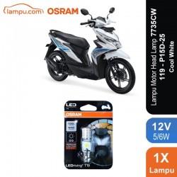 Osram Lampu Motor LED Honda Beat - T19 H6 M5 K1 Putih - 7735CW - Jual dg Harga Murah