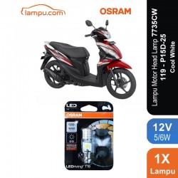 Osram Lampu Motor LED Honda Spacy - T19 H6 M5 K1 Putih - 7735CW - Jual dg Harga Murah