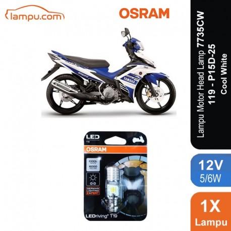 Osram Lampu Utama Motor LED T19 H6 M5 K1 Putih - 7735CW - Cocok u/