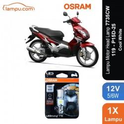 Osram Lampu Motor LED Yamaha Nouvo - T19 H6 M5 K1 Putih - 7735CW - Jual dg Harga Murah
