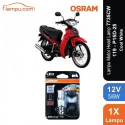 Osram Lampu Motor LED Yamaha Vega R New - T19 H6 M5 K1 Putih - 7735CW - Jual dg Harga Murah