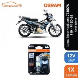 Osram Lampu Motor LED Suzuki Satria - T19 H6 M5 K1 Putih - 7735CW - Jual dg Harga Murah