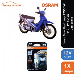 Osram Lampu Utama Motor LED T19 H6 M5 K1 Putih - 7735CW - Cocok u/ Motor Bebek & Matic dg Harga Murah