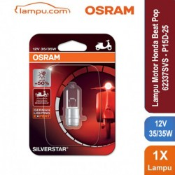 Osram Lampu Depan Motor Honda Beat Pop - 12V 35W P15D-25-1 Silver Star - 62337SVS