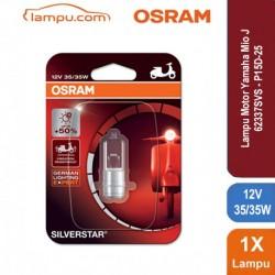 Osram Lampu Depan Motor Yamaha Mio J - 12V 35W P15D-25-1 Silver Star - 62337SVS