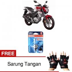 Osram Lampu Depan Motor HS1 Yamaha Vixion 64185CB 12V 35/35 PX43T - Cool Blue - Gratis Sarung Tangan