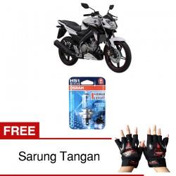 Osram Lampu Depan Motor HS1 Yamaha Vixion Advance 64185CB 12V 35/35 PX43T - Cool Blue - Gratis Sarung Tangan