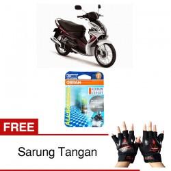 Jual Osram Lampu Motor Suzuki Skywave P15D-25-1 - All Season Super - Free Sarung Tangan - Mampu Menembus Kabut & Gerimis