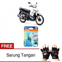 Jual Osram Lampu Motor Yamaha Crypton P15D-25-1 - All Season Super - Free Sarung Tangan - Mampu Menembus Kabut & Gerimis