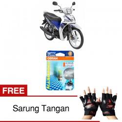Jual Osram Lampu Motor Yamaha Force P15D-25-1 - All Season Super - Free Sarung Tangan - Mampu Menembus Kabut & Gerimis