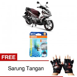Jual Osram Lampu Motor Yamaha Mio GT P15D-25-1 - All Season Super - Free Sarung Tangan -Mampu Menembus Kabut & Gerimis