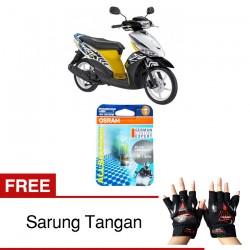 Jual Osram Lampu Motor Yamaha Mio J fi P15D-25-1 - All Season Super - Free Sarung Tangan -Mampu Menembus Kabut & Gerimis