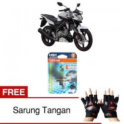 Jual Osram Lampu Motor Yamaha Vixion Advantage HS1 PX43T All Season Super - Free Sarung Tangan - Cahaya Menembut Kabut & Gerimis