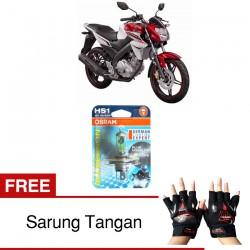 Jual Osram Lampu Motor Yamaha Vixion HS1 PX43T All Season Super - Free Sarung Tangan - Cahaya Menembut Kabut & Gerimis