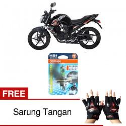 Jual Osram Lampu Motor Yamaha Byson HS1 PX43T All Season Super - Free Sarung Tangan - Cahaya Menembut Kabut & Gerimis