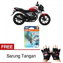 Jual Osram Lampu Motor New Mega Pro Fi HS1 PX43T All Season Super - Free Sarung Tangan - Cahaya Menembut Kabut & Gerimis