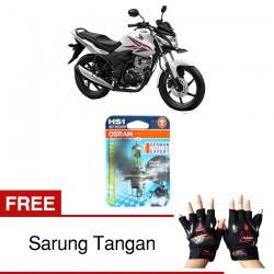 Jual Osram Lampu Motor Honda Ferza CW 150 HS1 PX43T All Season Super - Free Sarung Tangan - Cahaya Menembut Kabut & Gerimis