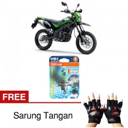 Jual Osram Lampu Motor Kawasaki D-Tracker X HS1 PX43T All Season Super - Free Sarung Tangan - Cahaya Menembut Kabut & Gerimis