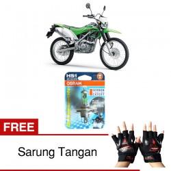 Jual Osram Lampu Motor Kawasaki KLX HS1 PX43T All Season Super - Free Sarung Tangan - Cahaya Menembut Kabut & Gerimis
