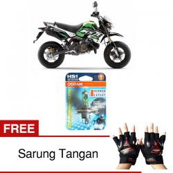 Jual Osram Lampu Motor Kawasaki KSR 110 HS1 PX43T All Season Super - Free Sarung Tangan - Cahaya Menembut Kabut & Gerimis