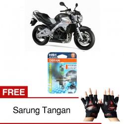 Jual Osram Lampu Motor Suzuki Inazuma GSX-R HS1 PX43T All Season Super - Free Sarung Tangan - Cahaya Menembut Kabut & Gerimis