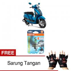 Jual Osram Lampu Motor Yamaha Grand Filano HS1 PX43T All Season Super - Free Sarung Tangan - Cahaya Menembut Kabut & Gerimis