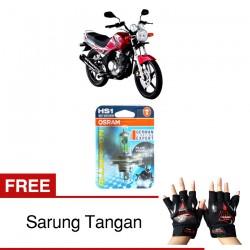 Jual Osram Lampu Motor Yamaha Scorpio HS1 PX43T All Season Super - Free Sarung Tangan - Cahaya Menembut Kabut & Gerimis