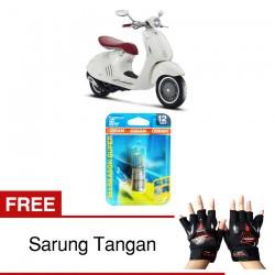 Jual Osram Lampu Motor Vespa 946 BA20D - All Season Super - Free Sarung Tangan - Cocok u/ Kondisi Cuaca Hujan & Berkabut