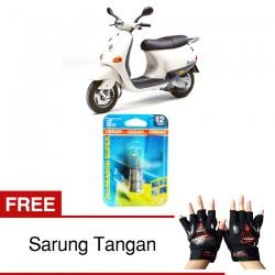 Jual Osram Lampu Motor Vespa ET4 BA20D - All Season Super - Free Sarung Tangan - Cocok u/ Kondisi Cuaca Hujan & Berkabut