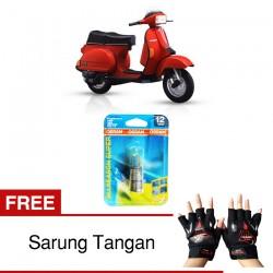 Jual Osram Lampu Motor Vespa Excell BA20D - All Season Super - Free Sarung Tangan - Cocok u/ Kondisi Cuaca Hujan & Berkabut