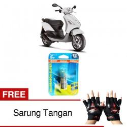 Jual Osram Lampu Motor Vespa Fly BA20D - All Season Super - Free Sarung Tangan - Cocok u/ Kondisi Cuaca Hujan & Berkabut