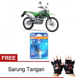 Jual Osram Lampu Motor Kawasaki KLX HS1 PX43T - Cool Blue - Gratis Sarung Tangan