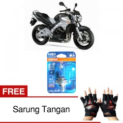 Jual Osram Lampu Motor Suzuki Inazuma GSX-R HS1 PX43T - Cool Blue - Gratis Sarung Tangan