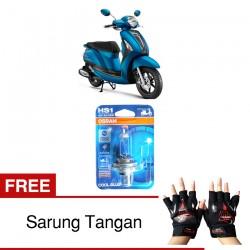 Jual Osram Lampu Motor Yamaha Grand Filano HS1 PX43T - Cool Blue - Gratis Sarung Tangan