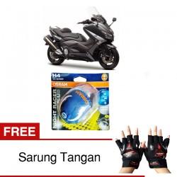 Jual Osram H4 Lampu Motor Yamaha Tmax Low/High Beam - Free Sarung Tangan - Night Racer Plus - dg Harga Murah
