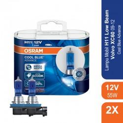 Jual Osram Lampu Mobil Volvo XV60 2009-2012 Low Beam - H11 Cool Blue Advance - 62211CBA - Biru - dg Harga Murah